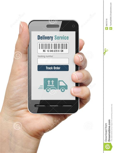 Mobile Phone Number Tracker App Order Tracking Concept Royalty Free Stock Photos Image 38673718