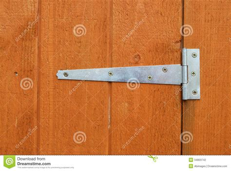 shed door hinge stock photo image  fitted woodgrain
