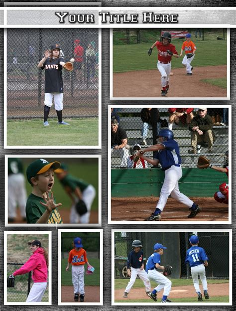 sports photo templates graphic collection collage templates
