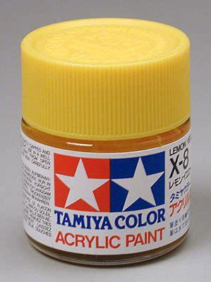 acrylic paint lemon yellow tamiya ta81008 x 8 lemon yellow acrylic paint 23ml 0 8