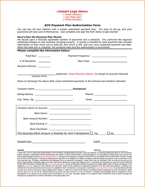 consent letter format of auditor ach authorization form template credit card