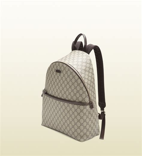 Backpack Gucci Gd 1 gucci gg supreme canvas zip backpack in gray for beige lyst