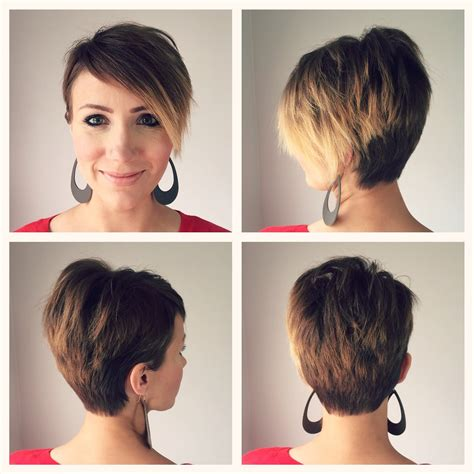 front and back pics of short hairstyles pixie haircut back and front view haircuts models ideas