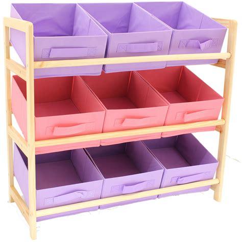 pink canvas storage drawers hartleys 3 tier storage shelf unit kids childrens bedroom