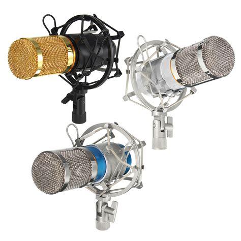Audio Condenser Microphone Studio Sound Shock Mount Bm 800 bm 800 pro condenser dynamic microphone mic sound audio studio recording with shock mount alex nld