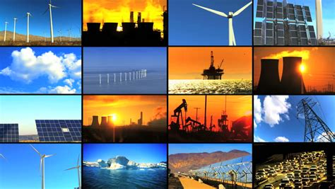 Renewable Energy Versus The Environment by Montage Collection Of Clean Renewable Energy Sources