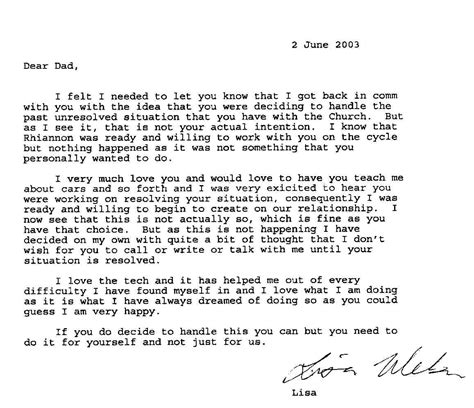 Letter For Ex Letters From Ex Member Gary Weber S Two Daughters Who Are Still In Scientology Disconnecting