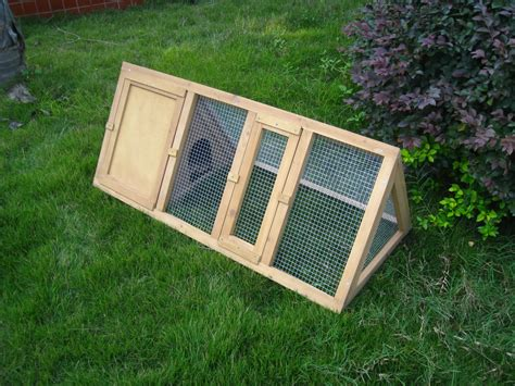 Triangle Rabbit Hutch wooden triangle rabbit hutch and run cage guinea pig ferret coop running outdoor ebay