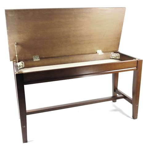how high is a piano bench frederick extended upright piano bench walnut satin ebay