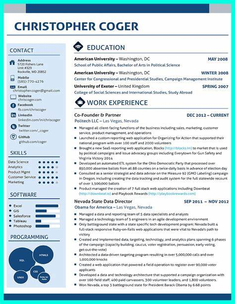 data scientist resume resume template 2017 - Data Scientist Resume Sample