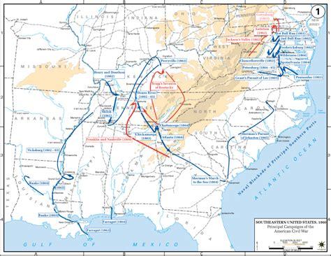 us civil war map department of history american civil war