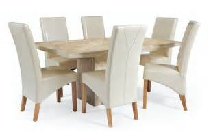 cream leather dining chairs and glass table search