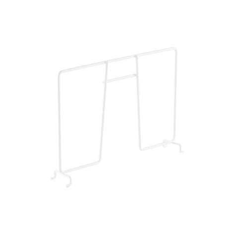 white elfa ventilated wire shelf dividers the container