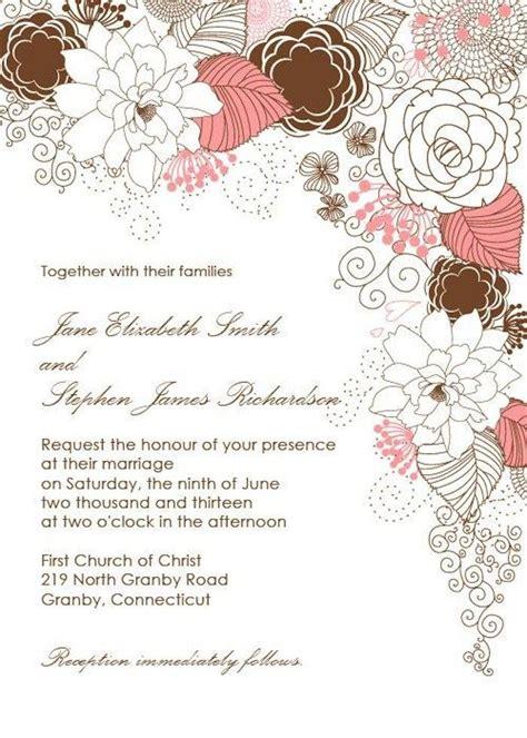 free flower wedding invitation templates wedding invitation templates you will modwedding