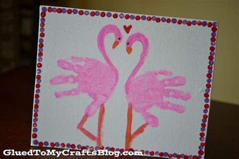 card handprint handprint flamingo kid canvas craft