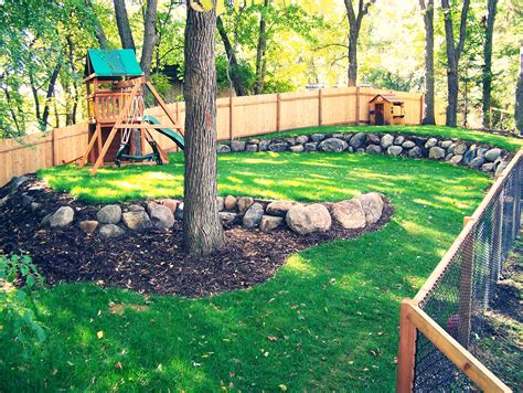 backyard play area landscaping kid friendly landscape design ideas great goats