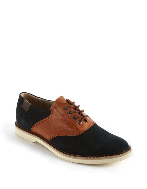 oxford saddle shoes lacoste sherbrooke golf leather oxford saddle shoes in