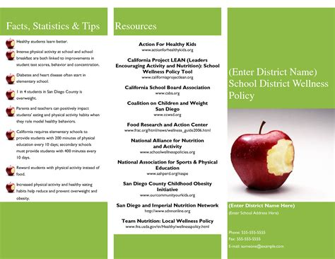 nutrition brochure template 4 best agenda templates