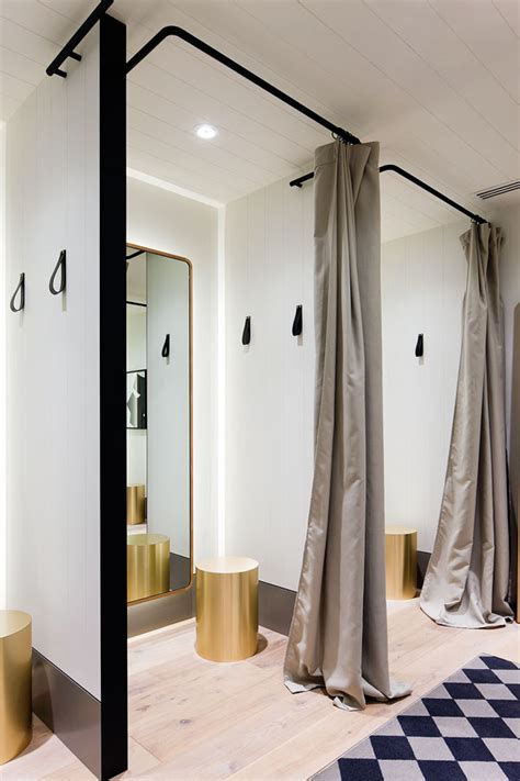 changing room design retail store seed has new monochromatic design indesign