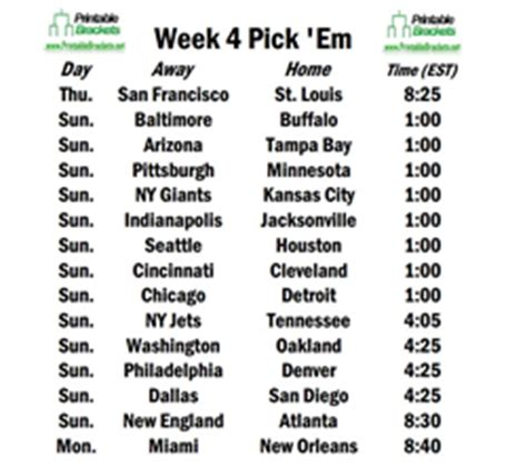 Duke Weekend Mba Schedule by Week 4 Of 2013 Nfl Season Opens With Rams Hosting 49ers