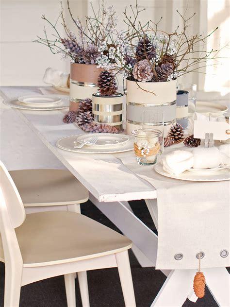 tischschmuck winter una tavola invernale il cestino da picnic