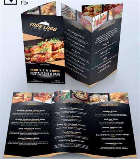 desain brosur kuliner 30 desain brosur restoran untuk promosi dan marketing