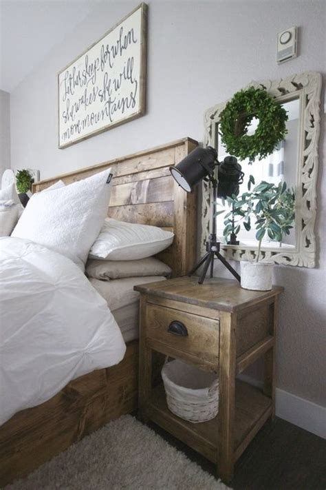 1000 ideas about mirror behind nightstand on pinterest painted side tables in rustic bedroom farmhouse bedroom