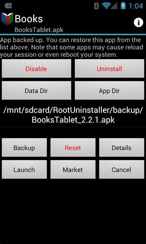 nand unlock apk root uninstaller for android root uninstaller 4 0