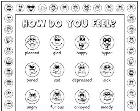 faces of emotion printable kids feeling faces printable