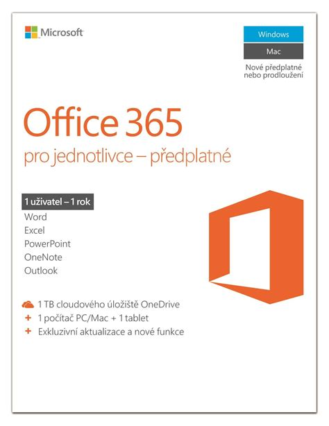Office 365 For Pro Elektronick 225 Licence Microsoft Office 365 Pro Jednotlivce