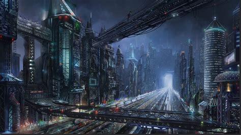 cyberpunk city concept environment sci fi concept art sci fi night city by lac tic on deviantart cyberpunk