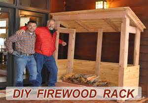 how to build a firewood rack