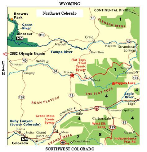 meeker colorado map meeker colorado community information