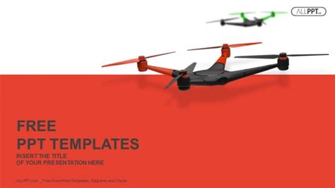 Flying drone. Quadrocopter PowerPoint Templates