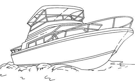 dessin bateau de plaisance dididou coloriage yacht