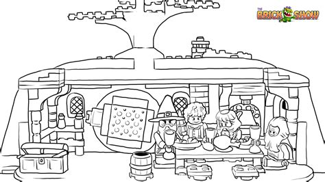 the hobbit an unexpected party coloring page wallpaper