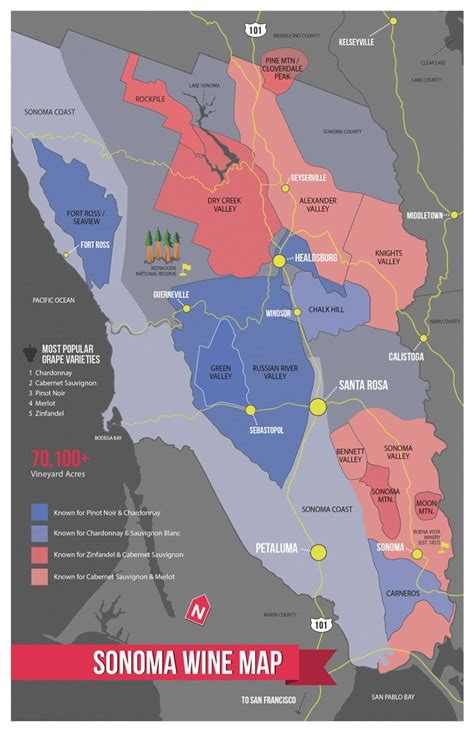 sonoma winery map sonoma wine map poster am i am and maps posters