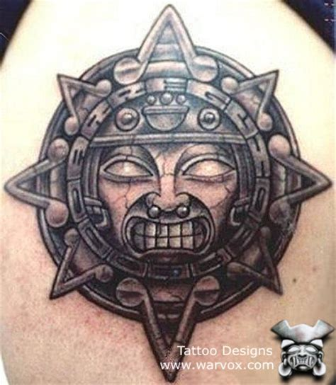 aztec sun god tattoo designs warvox photo gallery aztec sun