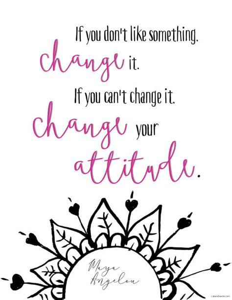 printable quotes about change change your attitude printable quote cat raven