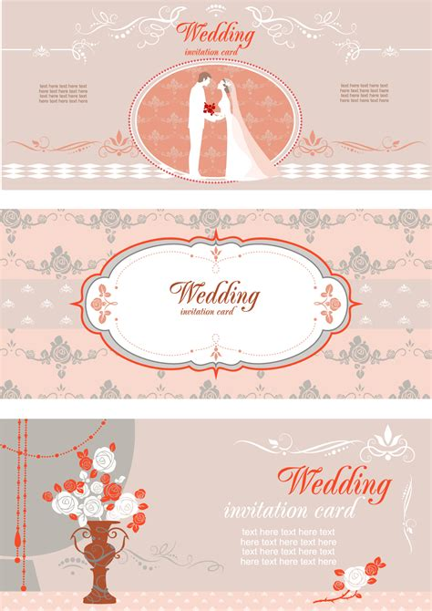 vector wedding invitations wedding invitation card with different elements vector