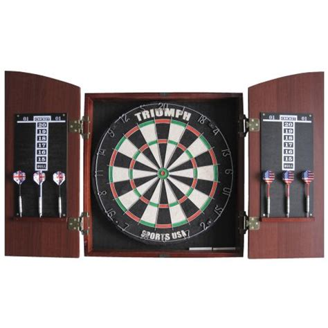 best dart board cabinet combo triumph sports usa arched cabinet bristle dartboard combo