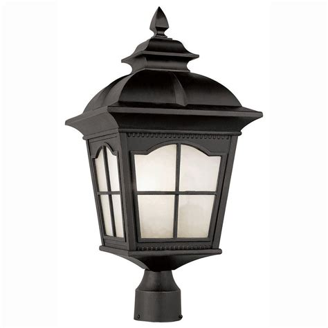 Bel Air Outdoor Lighting Bel Air Lighting Energy Saving 1 Light Outdoor Black Post Top Lantern With Frosted Glass Pl 5425