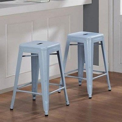light blue leather counter stools details about 2 bar stools metal 24 kitchen counter