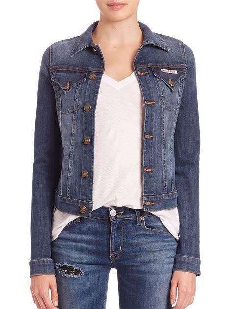 Blezer Denim lyst hudson signature denim jacket in blue