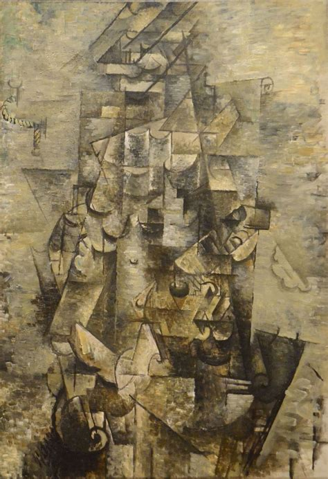 picasso cubism facts georges braque with a guitar details