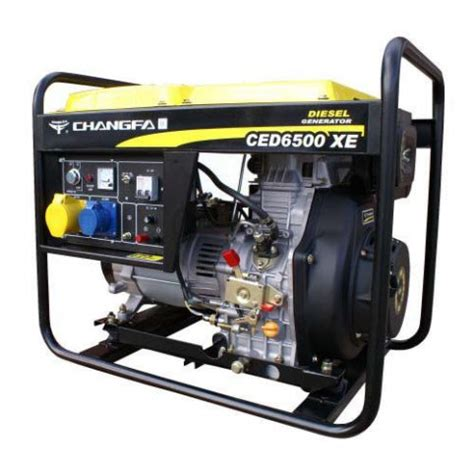 changfa ced6500xe electric start diesel generator