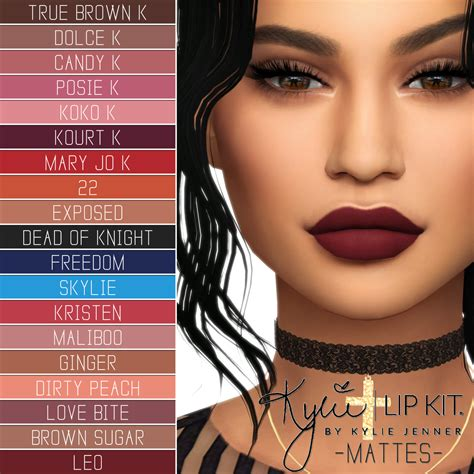 kylie sims 4 lip kit lana cc finds kylie cosmetics lip kit ultimate