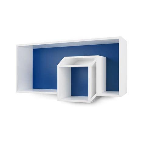 etagere 100 cm temahome 201 tag 232 re murale cube quot cubic quot 100cm bleu fonc 233