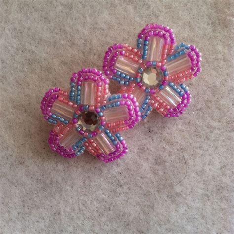 beadwork earrings beadwork beaded earrings done by me my