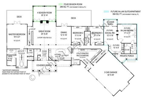 home floor plans with mother in law quarters pepperwood house plan house plans first love and in law